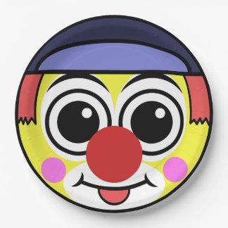Clown-Gesicht Pappteller