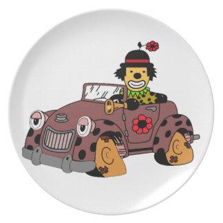 Clown im Auto Melaminteller
