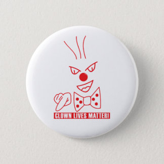 Clown lebt Angelegenheits-Knopf Runder Button 5,1 Cm