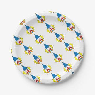 Clown - lustiges Gesicht Pappteller
