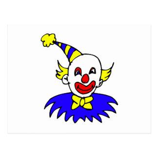 Clown-spitzer Haupthut Postkarte