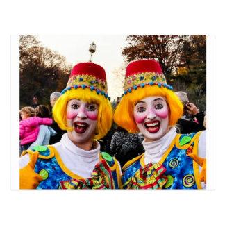Clown Twiins Postkarte