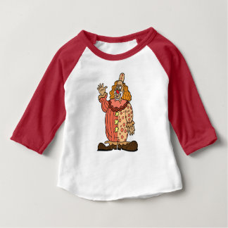 Clown-Wellenartig bewegen Baby T-shirt