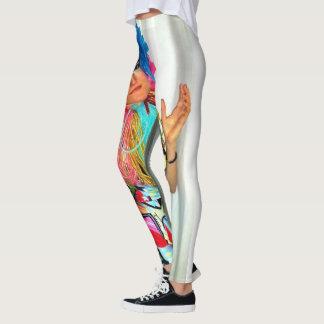 Clown-Zirkus-Regenbogenspaßvogel Leggings