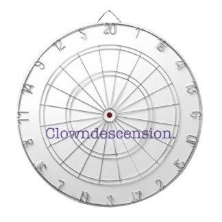 Clowndescension. Dartscheibe