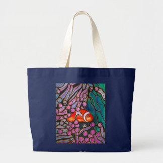 "Clownfish Seeanemonen-""Buntglas"" Entwurf! Jumbo Stoffbeutel"