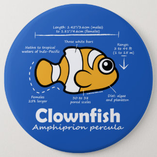 Clownfish Statistiken Runder Button 15,3 Cm