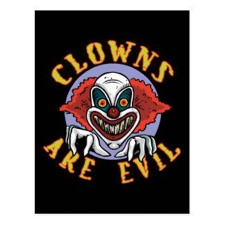 Clowns sind schlechte Postkarte