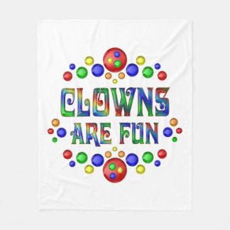 Clowns sind Spaß Fleecedecke