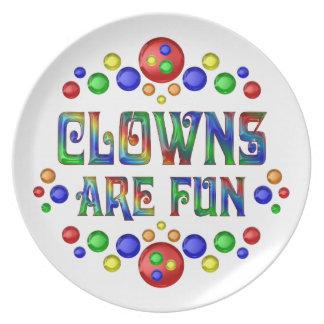 Clowns sind Spaß Teller