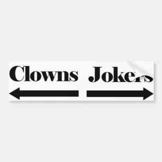 Clowns und Joker Autoaufkleber