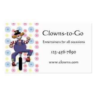 Clownunicycle-Visitenkarte Visitenkarten