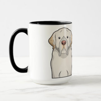 Clumber Spaniel-Cartoon Tasse
