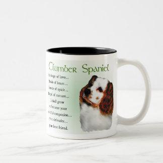 Clumber Spaniel-Geschenke Zweifarbige Tasse