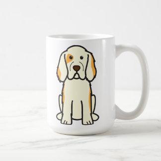 Clumber Spaniel-HundeCartoon Kaffeetasse