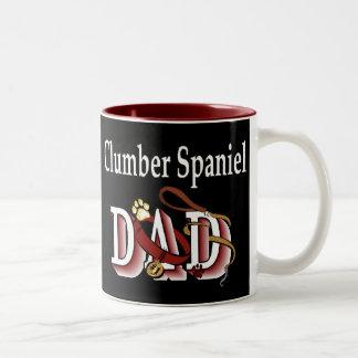 Clumber Spaniel-Vati-Geschenke Zweifarbige Tasse