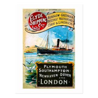 Clyde Shipping Company - Vintag Postkarte