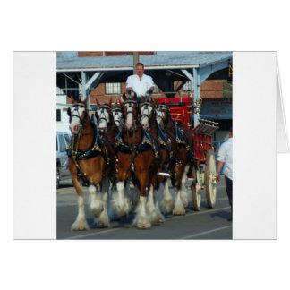 Clydesdale 6 Pferdeanhängevorrichtung Karte