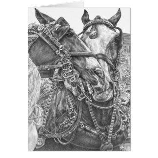 Clydesdale Entwurfs-Pferd, das durch Kelli Schwan Karte