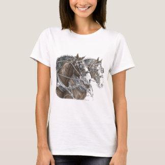Clydesdale Entwurfs-Pferdeteam T-Shirt