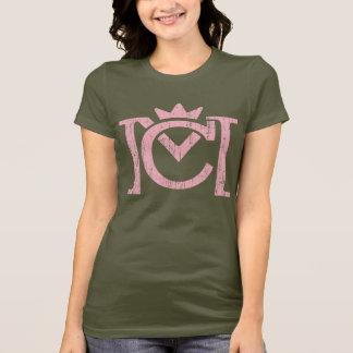Cm-Buchstabe-Logo (Vintages Rosa) T-Shirt