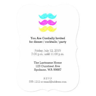 CMY Schnurrbärte (Briefbeschwererart) 12,7 X 17,8 Cm Einladungskarte