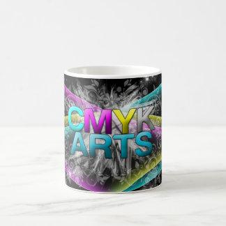 CMYK abstrakter Entwurf Kaffeetasse