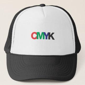 CMYK als RGB-Grafikdesign-Videodruck Truckerkappe