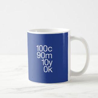 CMYK Blau Kaffeetasse