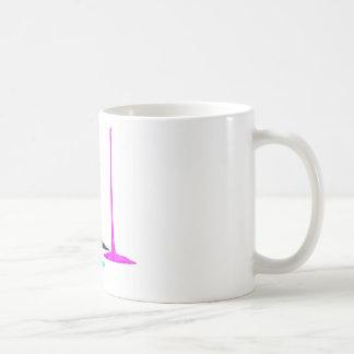CMYK Farbe gießen auf Weiß Kaffeetasse