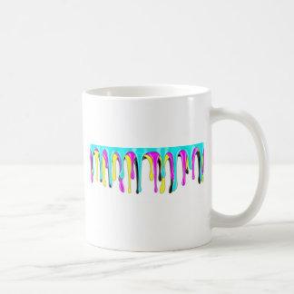 CMYK Farbenspritzen Kaffeetasse