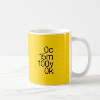 CMYK Gelb Kaffeetasse
