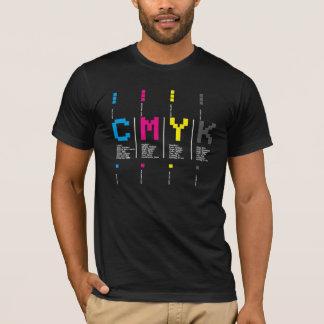 CMYK mit Schriftbild T-Shirt