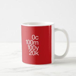 CMYK Rot Kaffeetasse