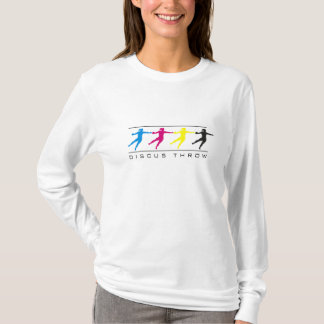 CMYK - Throw-T - Shirt der Frauen der Discus