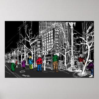 CNR-Markt, Sansome u. Sutter St. San Francisco Poster