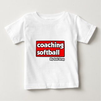 Coachte Softball… meine Anti-Droge Baby T-shirt