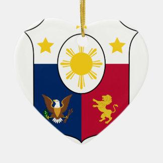 Coat_of_arms_of_the_Philippines_ (1946-1978) Keramik Ornament