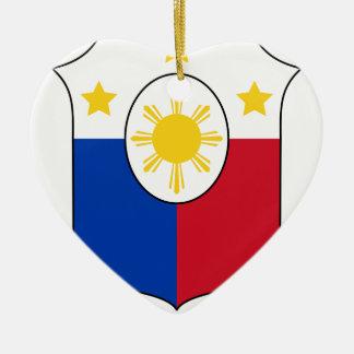 Coat_of_arms_of_the_Philippines_ (per_1998_Law) Keramik Ornament