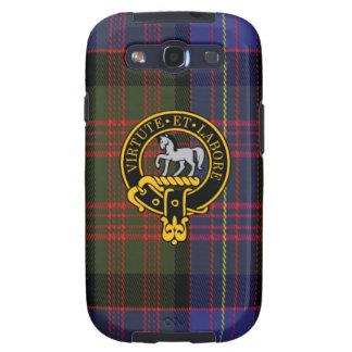 Cochrane schottisches Wappen und Tartan S3 rufen Samsung Galaxy S3 Schutzhülle