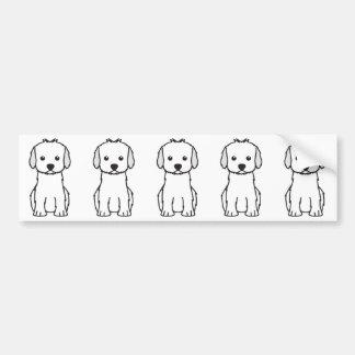 Cockapoo HundeCartoon Autoaufkleber