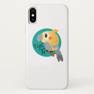 Cockateil Tiel mit ihm lustig iPhone X Hülle