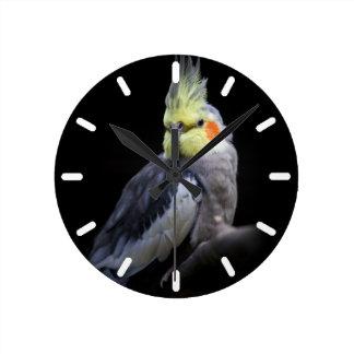 Cockatiel-Uhr 2 Runde Wanduhr