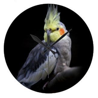 Cockatiel-Uhr Große Wanduhr