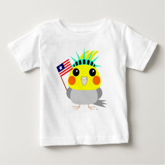 Cockatielpapagei USA-Amerikaner 4. von Juli-T - Baby T-shirt