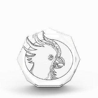 Cockatoo-Hauptkreis-Gekritzel-Kunst Acryl Auszeichnung
