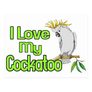 Cockatoo-Liebe Postkarte
