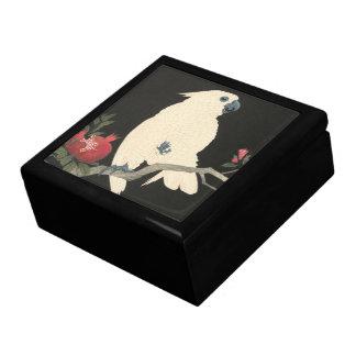 Cockatoo-Vintage japanische feine Geschenkbox