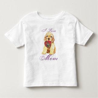 Cocker spaniel-Herz-Mamma Kleinkind T-shirt