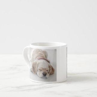 Cocker spaniel-Hundeschlafen Espressotasse
